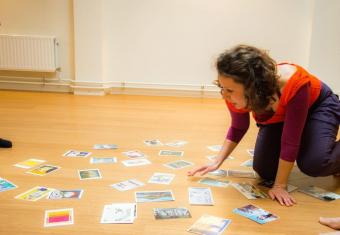Katerina teaching a workshop