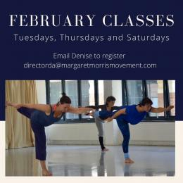 February Classes Poster